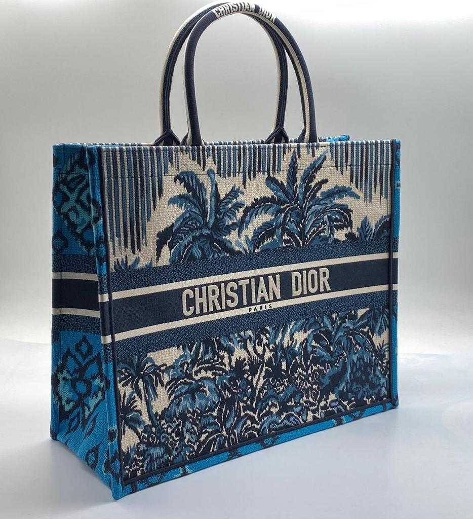Сумка-тоут Christian Dior Book Tote синяя