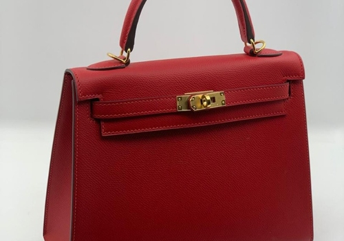 Сумка Hermes Kelly красная