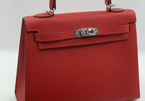 Сумка красная Hermes Kelly