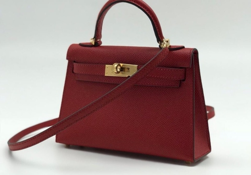 Красная сумка Hermes Kelly Mini